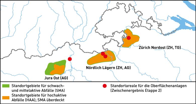Geologische Standortgebiete Etappe 2 Broschuere OFI