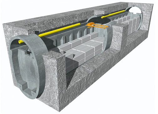 Tiefenlager Behälter Stollen Nagra