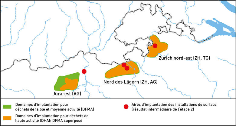 Geologische Standortgebiete Etappe 2 F